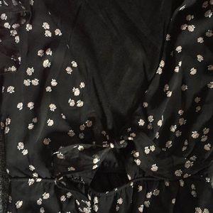 Dresses - Floral Front Tie Dress